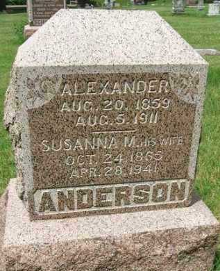 ANDERSON, ALEXANDER - Minnehaha County, South Dakota | ALEXANDER ANDERSON - South Dakota Gravestone Photos