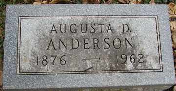 ANDERSON, AUGUSTA D. - Minnehaha County, South Dakota | AUGUSTA D. ANDERSON - South Dakota Gravestone Photos