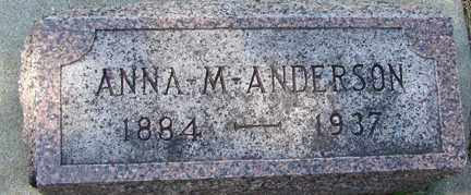 ANDERSON, ANNA M. - Minnehaha County, South Dakota | ANNA M. ANDERSON - South Dakota Gravestone Photos