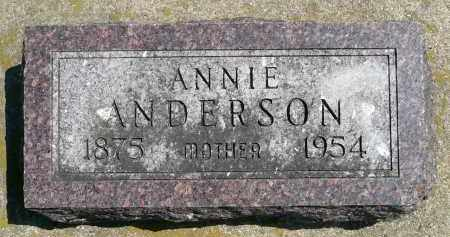 ANDERSON, ANNIE - Minnehaha County, South Dakota | ANNIE ANDERSON - South Dakota Gravestone Photos