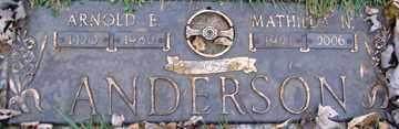 ANDERSON, ARNOLD E. - Minnehaha County, South Dakota | ARNOLD E. ANDERSON - South Dakota Gravestone Photos