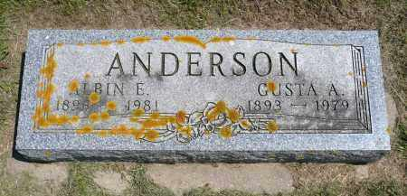ANDERSON, ALBIN E. - Minnehaha County, South Dakota | ALBIN E. ANDERSON - South Dakota Gravestone Photos