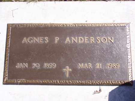ANDERSON, AGNES P. - Minnehaha County, South Dakota | AGNES P. ANDERSON - South Dakota Gravestone Photos