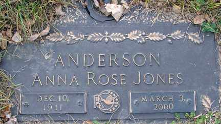 ANDERSON, ANNA ROSE - Minnehaha County, South Dakota | ANNA ROSE ANDERSON - South Dakota Gravestone Photos