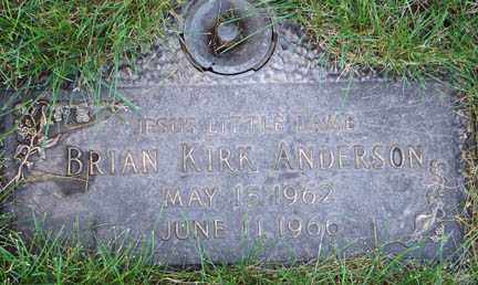 ANDERSON, BRIAN KIRK - Minnehaha County, South Dakota | BRIAN KIRK ANDERSON - South Dakota Gravestone Photos