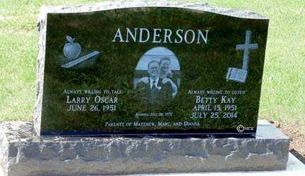 ANDERSON, LARRY OSCAR - Minnehaha County, South Dakota | LARRY OSCAR ANDERSON - South Dakota Gravestone Photos