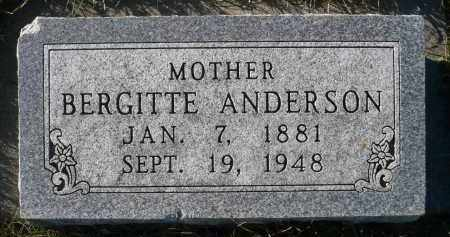 ANDERSON, BERGITTE - Minnehaha County, South Dakota   BERGITTE ANDERSON - South Dakota Gravestone Photos