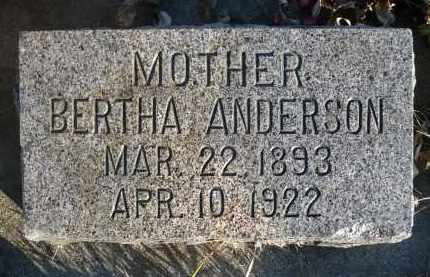 ANDERSON, BERTHA - Minnehaha County, South Dakota | BERTHA ANDERSON - South Dakota Gravestone Photos