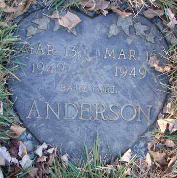 ANDERSON, INFANT GIRL - Minnehaha County, South Dakota | INFANT GIRL ANDERSON - South Dakota Gravestone Photos
