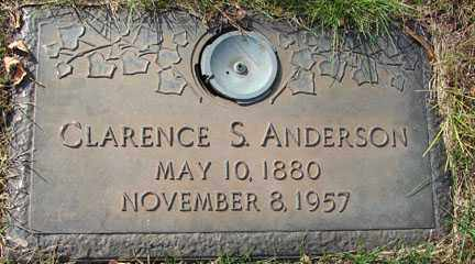 ANDERSON, CLARENCE S. - Minnehaha County, South Dakota | CLARENCE S. ANDERSON - South Dakota Gravestone Photos