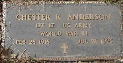 ANDERSON, CHESTER R. - Minnehaha County, South Dakota   CHESTER R. ANDERSON - South Dakota Gravestone Photos