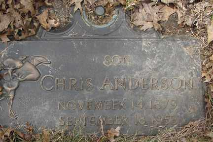 ANDERSON, CHRIS - Minnehaha County, South Dakota | CHRIS ANDERSON - South Dakota Gravestone Photos