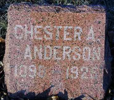 ANDERSON, CHESTER A. - Minnehaha County, South Dakota | CHESTER A. ANDERSON - South Dakota Gravestone Photos