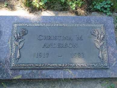 ANDERSON, CHRISTINA M. - Minnehaha County, South Dakota   CHRISTINA M. ANDERSON - South Dakota Gravestone Photos