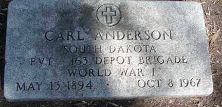 ANDERSON, CARL - Minnehaha County, South Dakota   CARL ANDERSON - South Dakota Gravestone Photos