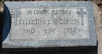 ANDERSON, CELESTINE L. - Minnehaha County, South Dakota   CELESTINE L. ANDERSON - South Dakota Gravestone Photos
