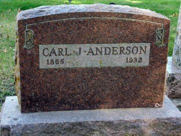 ANDERSON, CARL J. - Minnehaha County, South Dakota | CARL J. ANDERSON - South Dakota Gravestone Photos