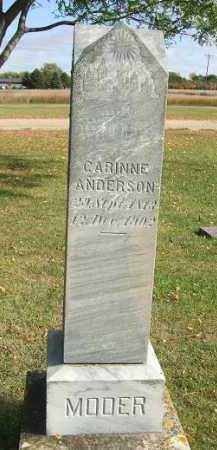 ANDERSON, CARRINE - Minnehaha County, South Dakota   CARRINE ANDERSON - South Dakota Gravestone Photos