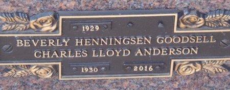 ANDERSON, CHARLES LLOYD - Minnehaha County, South Dakota   CHARLES LLOYD ANDERSON - South Dakota Gravestone Photos