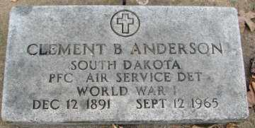 ANDERSON, CLEMENT  B. - Minnehaha County, South Dakota | CLEMENT  B. ANDERSON - South Dakota Gravestone Photos