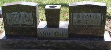 ANDERSON, CECIL  L. - Minnehaha County, South Dakota | CECIL  L. ANDERSON - South Dakota Gravestone Photos