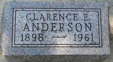 ANDERSON, CLARENCE E. - Minnehaha County, South Dakota | CLARENCE E. ANDERSON - South Dakota Gravestone Photos