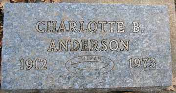 ANDERSON, CHARLOTTE B. - Minnehaha County, South Dakota | CHARLOTTE B. ANDERSON - South Dakota Gravestone Photos