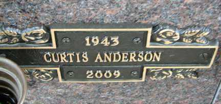 ANDERSON, CURTIS - Minnehaha County, South Dakota | CURTIS ANDERSON - South Dakota Gravestone Photos