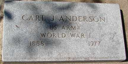 ANDERSON, CARL J. (WWI) - Minnehaha County, South Dakota | CARL J. (WWI) ANDERSON - South Dakota Gravestone Photos