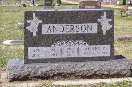 ANDERSON, CHRIS M. - Minnehaha County, South Dakota | CHRIS M. ANDERSON - South Dakota Gravestone Photos