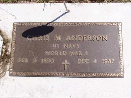 ANDERSON, CHRIS M. - Minnehaha County, South Dakota | CHRIS M. ANDERSON - South Dakota Gravestone Photos
