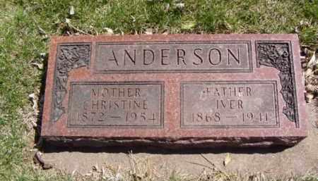 ANDERSON, IVER - Minnehaha County, South Dakota | IVER ANDERSON - South Dakota Gravestone Photos