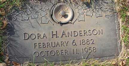 ANDERSON, DORA H. - Minnehaha County, South Dakota | DORA H. ANDERSON - South Dakota Gravestone Photos