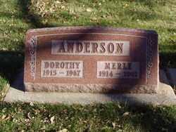 ANDERSON, MERLE - Minnehaha County, South Dakota | MERLE ANDERSON - South Dakota Gravestone Photos