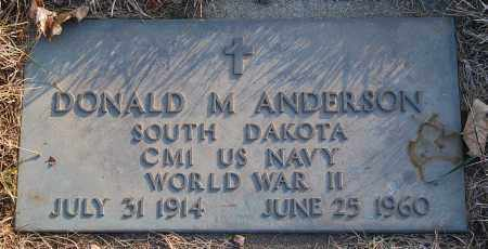 ANDERSON, DONALD M. - Minnehaha County, South Dakota   DONALD M. ANDERSON - South Dakota Gravestone Photos