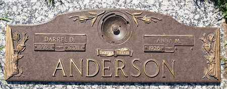 ANDERSON, DARREL D - Minnehaha County, South Dakota | DARREL D ANDERSON - South Dakota Gravestone Photos