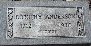ANDERSON, DOROTHY - Minnehaha County, South Dakota | DOROTHY ANDERSON - South Dakota Gravestone Photos