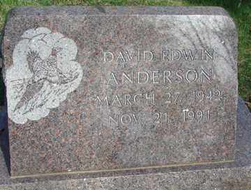 ANDERSON, DAVID EDWIN - Minnehaha County, South Dakota | DAVID EDWIN ANDERSON - South Dakota Gravestone Photos