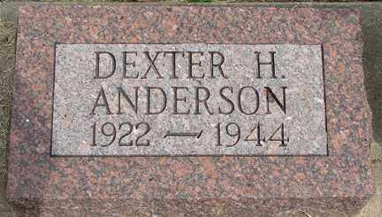ANDERSON, DEXTER H. - Minnehaha County, South Dakota | DEXTER H. ANDERSON - South Dakota Gravestone Photos