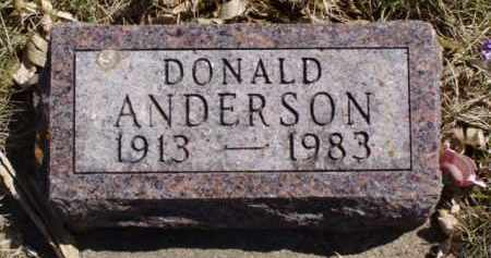 ANDERSON, DONALD - Minnehaha County, South Dakota | DONALD ANDERSON - South Dakota Gravestone Photos