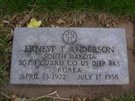 ANDERSON, ERNEST T. - Minnehaha County, South Dakota | ERNEST T. ANDERSON - South Dakota Gravestone Photos