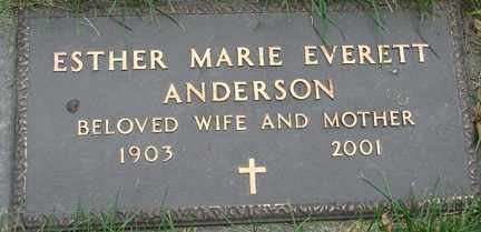 ANDERSON, ESTHER MARIE - Minnehaha County, South Dakota | ESTHER MARIE ANDERSON - South Dakota Gravestone Photos