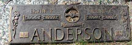 ANDERSON, IRENE A. - Minnehaha County, South Dakota   IRENE A. ANDERSON - South Dakota Gravestone Photos