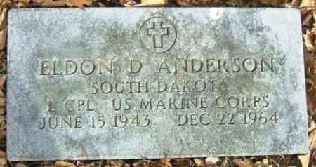 ANDERSON, ELDON D. - Minnehaha County, South Dakota | ELDON D. ANDERSON - South Dakota Gravestone Photos