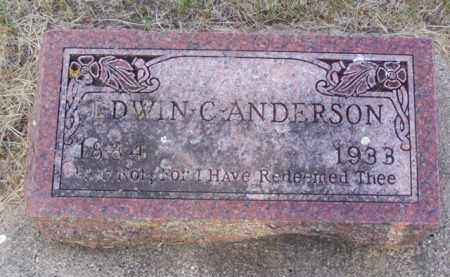 ANDERSON, EDWIN CONRAD - Minnehaha County, South Dakota | EDWIN CONRAD ANDERSON - South Dakota Gravestone Photos
