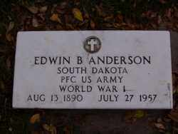 ANDERSON, EDWIN B. - Minnehaha County, South Dakota | EDWIN B. ANDERSON - South Dakota Gravestone Photos