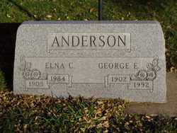 ANDERSON, ELNA C. - Minnehaha County, South Dakota | ELNA C. ANDERSON - South Dakota Gravestone Photos