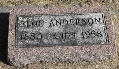 ANDERSON, ELOF JOHN - Minnehaha County, South Dakota   ELOF JOHN ANDERSON - South Dakota Gravestone Photos