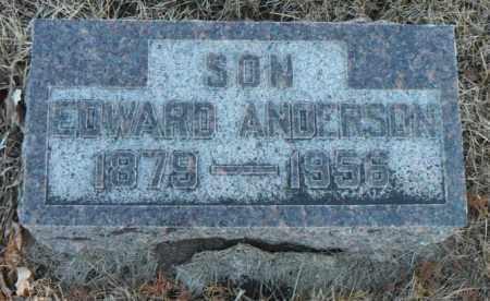 ANDERSON, EDWARD - Minnehaha County, South Dakota   EDWARD ANDERSON - South Dakota Gravestone Photos