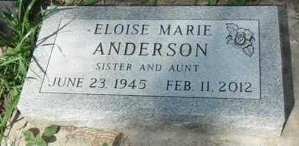 ANDERSON, ELOISE - Minnehaha County, South Dakota | ELOISE ANDERSON - South Dakota Gravestone Photos